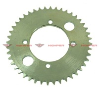 44 Tooth Rear Sprocket on 2-stroke scooters and pocket bikes+free shipping