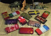 Matte Retro National flag pattern Skin Plastic hard back case Cover for iphone 4 4G 60pcs/lot