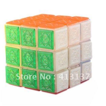 3x3x3 Brain Teaser Magic IQ Cube with Flashing LED White Light - 55520