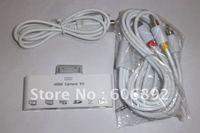 Fastest Shipping 6-in-1 HDMI Dock Adapter AV USB Cable Camera Connection Kit For iPad iPad 2 the New iPad 5pcs/lot