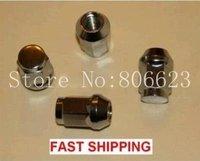 "24 NEW CHROME BULGE ACORN M12X1.25 LUG NUTS 12X1.25 34MM  (0.95"") WIDE"