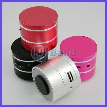 Vibration 360 Degree Resonance Mini Speaker With Remote Micro SD/TF Portable Vibrate Speaker Radio Free Shipping