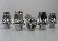 "12x1.5 Chrome Mag Lug Nuts w/ Washer Brand New Wheel Nuts 13/16"" Hex 24PCS 37.59MM (1.48"") TALL"