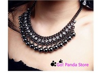 Колье-ошейник Vintage Black Gold Geometric choker Necklaces necklace fashion 1210001X