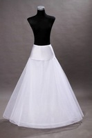 GOOD price and quality! mermaid petticoat 2 hoops white wedding dress crinoline