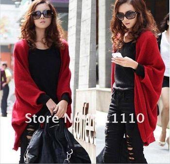 Trend Knitting  2013 new women's  thicken Warm cardigan sweater jacket shawl loose long coat Euramerican style