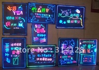 50*70CM led fluorescent handwriting board/advertisement board with highlighters(6+8=14PCS)
