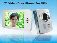 "7"" IPHONE TYPE Color Video Door Phone Support Night Vision, Digital Doorbell, Free Shipping"
