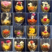 12 Kinds Handmade Blooming Flower Flowering Green Artistic Tea Ball - HOT ITEM+Secret Gift+free shipping