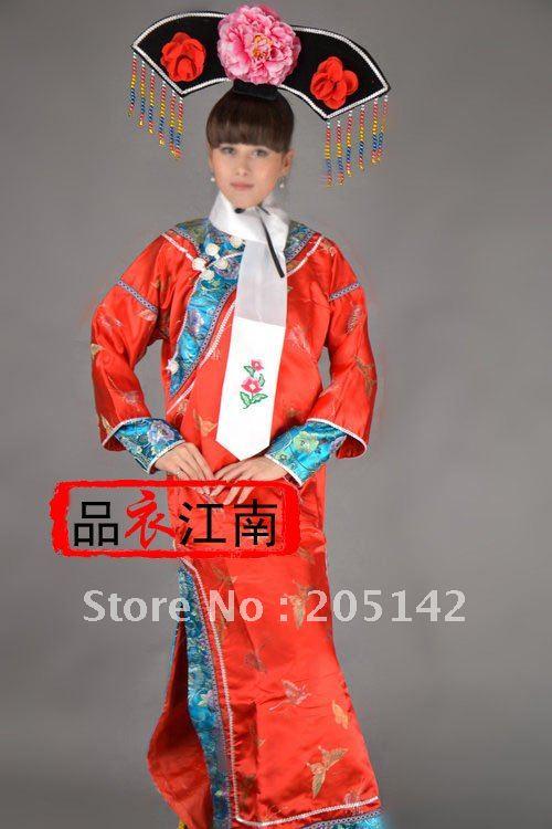 Cinese antico infanta di seta abito da sera in pizzo gg201302 una
