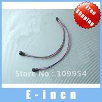 "20pcs  Computer Fan 4-pin (PWM) ""Y"" Splitter ,free shipping"