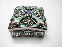 Wholesale(70pcs Pack)-2012 new  bronze plated pewter Alloy metal jewelry box