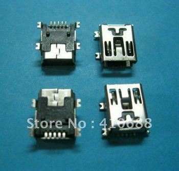 20 Pcs Mini USB Connector 5Pin Female Socket 180 Degree