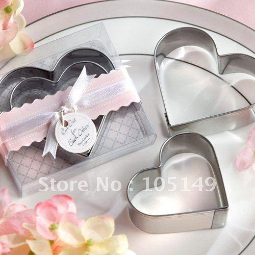 Presentes de casamento de coração cortadores de biscoito no coração moldada por frete grátis ( 128PCS / LOT ) Presentes de cozinha no atacado e varejo(China (Mainland))