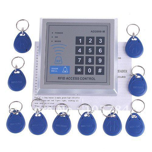 RFID Proximity Entry Door electronic Lock Access Control System with 10 Key Fobs, 5pcs/lot,freeshipping, dropshipping(China (Mainland))