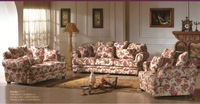 MOQ 1Set Rural Cloth Art Sofa,Living Room Furniture Sets,YSF-4025,OEM