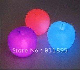 Free shipping Novelty Apple  Nightlight night light new apple LED colorful night light  10 pcs/lot