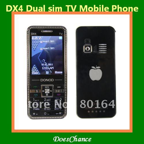 DX4 TV dual sim camera large 3D sound unlocked phone(China (Mainland))