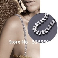 Best selling!!Double line crystal bra strap rhinestone bra shoulder stra mixed order Free shipping 5pairs/lot