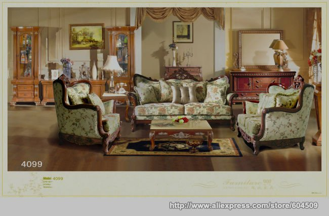 MOQ 1Set Amercian Style Wooden Fabric Sofa,YSF-4099,OEM(China (Mainland))