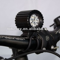 Free shipping  1600lm 6600MAH Super Power waterproof LED outdoor bike Lamp/LED outdoor Cycle front Lamp(RAY IV)