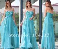 Free Shippment New Style high quality pure silk off the shoulder princess evening dress