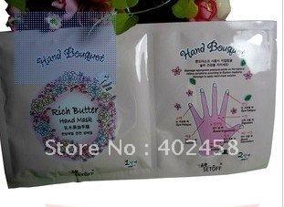 Free Shipping  Wholesale 100pcs/lot Moisturizing And Massage Rich Butter Hand Mask