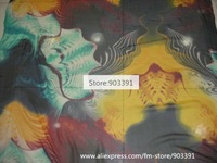 Women Clothing Fabic Material Silk Chiffon Fabric Floral Printed Fabric Store Wholesale  F0010-2