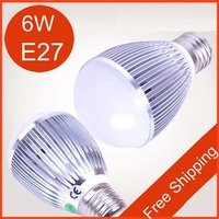 Free Shipping [Sharing Lighting]10pcs/lot Wholesale 6w E27 Led Bulb,Energy Saving Led Sopt Lamp,Led Bulbs(China (Mainland))