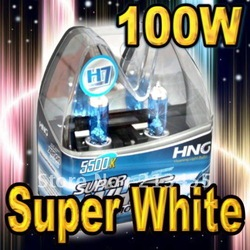 Wholesale Freeshipping White New H7 6000K 12V 100w Xenon Car HeadLight Bulb HID Halogen light Kit(China (Mainland))
