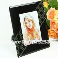 6 Inch Black Glass Photo Frame / Painting Frame / Fashion Rahmen.Free Shipping  A0107181