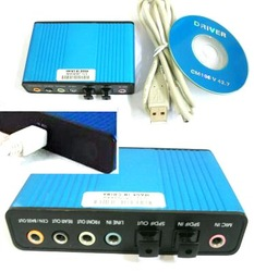 6 Channel 5.1 Optical Audio USB Sound Card S/PDIF freeshipping(China (Mainland))