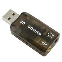 New Black  USB Digital 2.0 to 3D Audio USB Sound Card Adapter Virtual 5.1 ch freeshipping