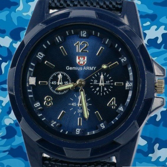2012 the most and Euro-American the most popular Sports fashion Army,Navy Blue nylon strap man + boy new wrist watch(China (Mainland))
