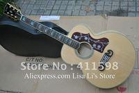 J-200M Custom Shop acoustic guitar natural Back / Side Tiger stripes Solid spruce + Fishman EQ Pickups