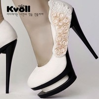 Free shipping New arrival Kvoll high quality fashion Platform Pumps Sexy High Heels shoes Lady Shoes Dilys dropship store Y612