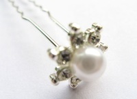 10pcs ow!!! silver plating sterling beautiful lady's pearl  hairpins