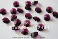 14mm Octagonal Crystal Beads,Grape purple,600pcs/lot  DIY Crystal Garland Material,Wedding & Home Decoration, Free Shipping CB07
