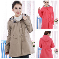 Pregnant women autumn fashion coat trench maternity coat spring and autumn maternity top
