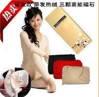 lady magnetic therapy model body underwear suit /woman winter thermal underwear/fat burn breathe traceless long johns