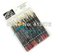 Freeshipping-12 Colors Lipliner Pencil Lip Pencil Cosmetics Lip Liner Pencil Waterproof Makeup Tool Wholesales #MK02332