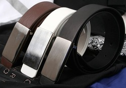 FREE SHIPPING! Retail and Wholesale! Classic fashion steel head leather Belt belts(China (Mainland))