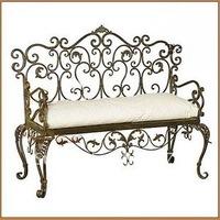European-style white fashionable Beach Chair Iron art antique siesta lounge Bar singles dining chair Two-seat sofa  Chair