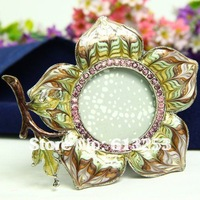 Inlay Crystal Photo Frame / Picture Frame / Flower Shape Rahmen.Free Shipping  A0108005