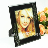 7 Inch Black Glass Photo Frame / Painting Frame / Fashion Rahmen.Free Shipping   A0107205