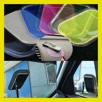 Free shipping Powerful Silica Gel Magic Sticky Pad Anti-Slip Non Slip Mat for Phone PDA mp3 mp4 Car Multicolor 10Pcs/Lot  HG950