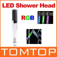 RGB Colors LED Light Shower Head Water Bathroom Sprinkler freeshipping, dropshipping wholesale