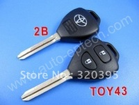 High quality toyota corolla remote key shell 2 button  free shipping