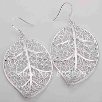 Min.order is $15(mix) E128 Factory Price,Nice Package! Free shipping silver earring.fashion jewelry  Earrings,