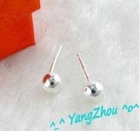 Min.order is $15(mix) E401 Ball Factory Price, Free shipping 925 silver earring, ear nail, fashion jewelry silver earring,